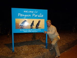 Ryan at Penguin Parade Entrance