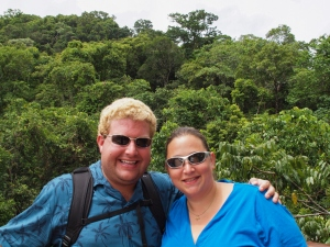 Rachel and Ryan atop the daintree rainforest canopy