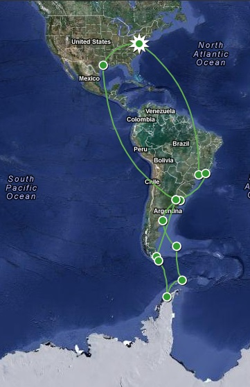 antarctica trip map