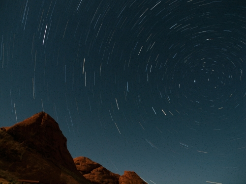 Valley of Fire - Star Trails