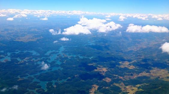 Flying into Rio