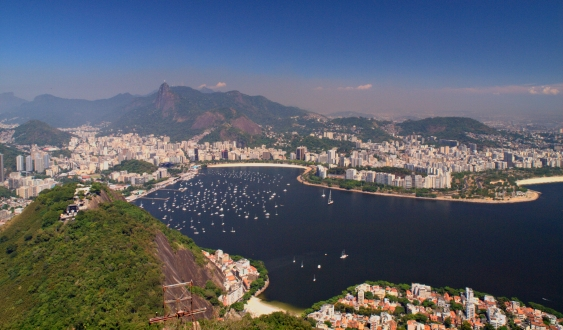 View of Rio - the Christ the Redeemer statue is in the distance.