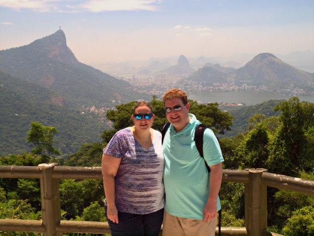 Corcovado and Sugarloaf can be seen behind us.