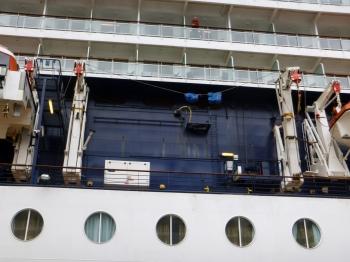 Damage done by refueling ship (right - damaged, left - not damaged)