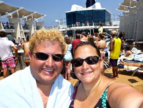 Sun deck selfie.