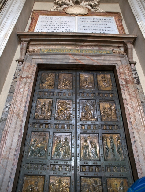 The Holy Door - only opened every 25 years for Jubilee.