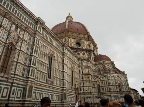 Basilica di Santa Maria del Fiore. The different colors are all marble.