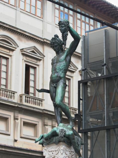 Statue of Medussa's death in Piazza del Signoria.