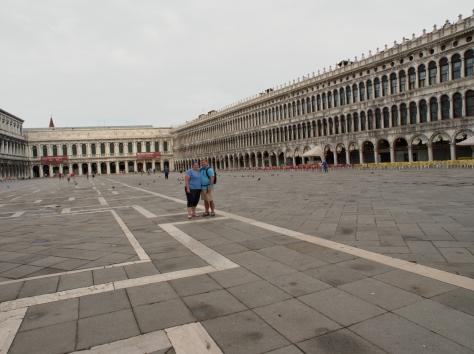 St. Mark's Square... empty!
