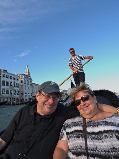 On a gondola!