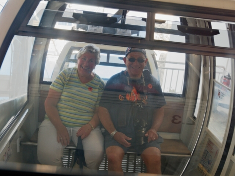 Barry and Joan on the cable car.