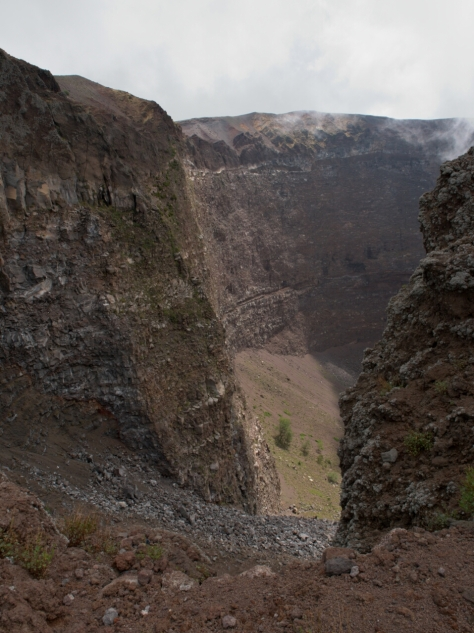 The crater.
