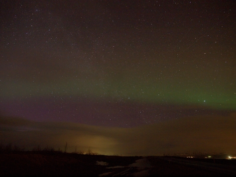 Our first aurora sighting!