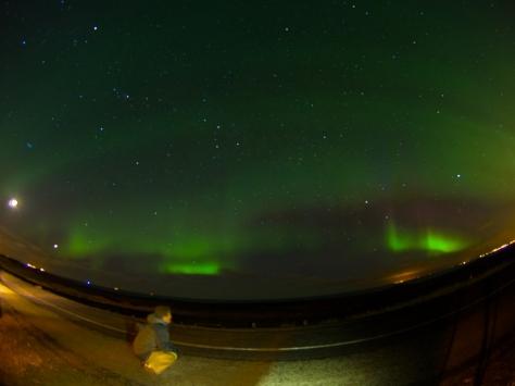 Ryan enjoying the Northern Lights