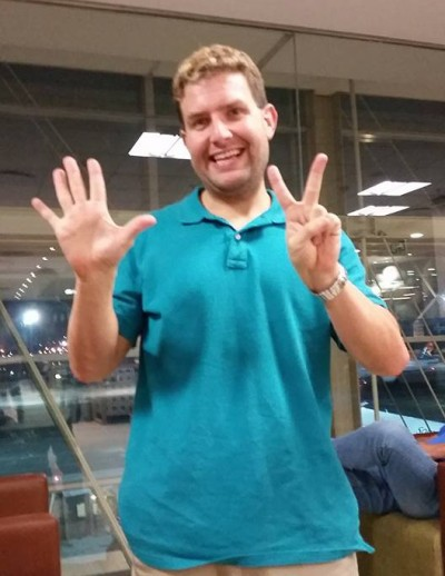 Ryan shows his excitement for visiting all 7 continents!
