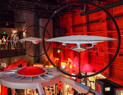 Models of various ships used in TV shows and movies.